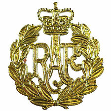 New OFFICIAL Brass Royal Air Force RAF Airmen Beret / Cap Badge ( RAF Regiment