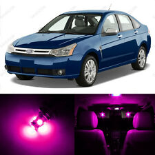 6 x Pink/Purple LED Interior Light Package For 2008 - 2011 Ford Focus
