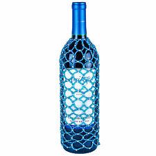 TURQUOISE BLUE SEED PEARL BEAD WINE BOTTLE COVER SKIRT, Many Styles Available