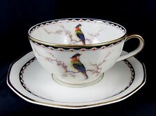 1920's Theodore Haviland Limoges Bird of Paradise Breakfast Cup & Saucer