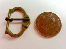Pack of 2 Medieval buckles reenactment Notched lip Buckle 1250-1400 Brass BKL-18