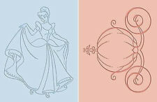 Disney Cuttlebug Embossing Folders Cinderella Night at the Ball Pumpkin Princess