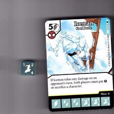 DICE MASTERS AMAZING SPIDER-MAN RARE #123 ICEMAN COOL DUDE WITH DICE