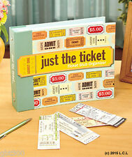 Ticket Stub Organizer IN HAND Keepsake Album Scrapbook Notes Photo Concert Event