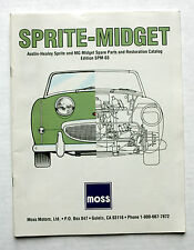 SPRITE-MIDGET Spare Parts & Restoration CATALOG Edition-SPM-03 from MOSS Motors