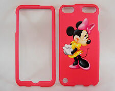 Minnie Mouse Pink Apple iPod Touch 5 5G Rigid Faceplate Case Cover Snap on