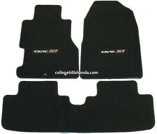 2002-2005 Genuine Honda Civic Si Black Carpet Floor Mats - 08P15-S5T-111