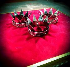 3 tris corone re magi 3,5 cm diametro PRESEPE Napoletano crown re mago king