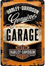 Harley Davidson Garage embossed metal sign  300mm x 200mm  (na)