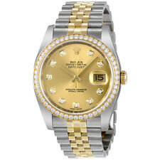 Rolex Oyster Perpetual Datejust 36 Champagne Dial Stainless Steel and 18K