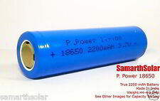 PPower 18650 Battery 2200mah 3.7v Rechargeable Lithium Cell Li Ion Samsung 18650