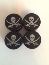 HARLEY DAVIDSON HEAD BOLT COVERS Jolly Roger Big Twin XL Sportster FREE SHIPPING