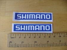 Shimano BICI/MTB Decalcomanie Autoadesivo Blu una coppia (tc2) consegna gratuita in tutto il mondo