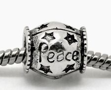 Peace Inspirational Star Spacer Bead for Silver European Style Charm Bracelets