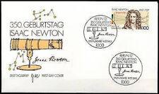 BRD 1993: Newton! FDC der Nr. 1646 mit Berliner Ersttags-Sonderstempeln! 1701