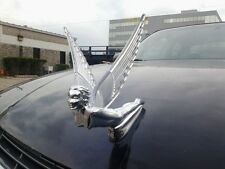 Flying Goddess Lady Chrome Car Hood Ornament Clear Lighted Wings