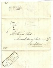 c.1825 BOXED MISSENT TO DUNDEE ON AUCHTERMUCHTY TO INCHTURE INSURANCE LETTER