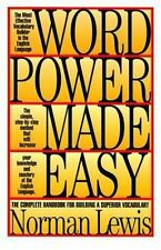 Word Power Made Easy by Norman Lewis (1995, Hardcover)