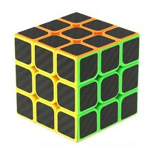 Z-Cube 3x3Speed Cube Puzzle Twist Game Carbon Fiber Sticker Kids Educational Toy