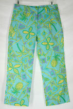 Lilly Pulitzer capri 2 cotton pineapple bamboo blue crop capris pants
