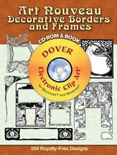Art Nouveau Decorative Borders and Frames CD-ROM and Book Dover Electronic Clip