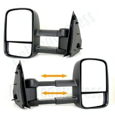 Pair Telescoping Towing Mirrors(L+R Side View)~Manual~FORD F150 F250 Light Duty