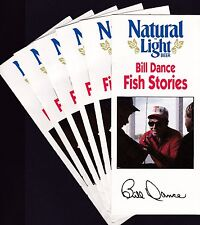 5 1988 Bill Dance Fish Stories pamphlets Natural Light Beer + Sweepstakes entry