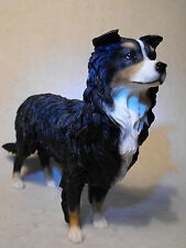 BORDER COLLIE DOG FIGURINE ORNAMENT FIGURE #  BLACK AND WHITE SHEEPDOG GIFT