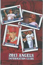 2013 Los Angeles Angels Baseball Media Guide Mike Trout Albert Pujols cover