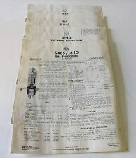 RCA Phototube Technical Data Sheets - 6405/1640, 6146, 811-A, 807 -- 1950's