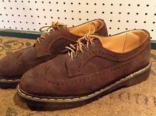 Men Dr Martens Brown suede Leather Wingtip Oxfords  Lace Up Shoes Size 12