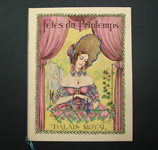 FETES DU PRINTEMPS 1923 PALAIS ROYAL GALA BAL PARIS SPECTACLE OLD PROGRAMME OLD