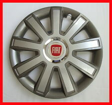 "4 x14"" Wheel trims Hup caps  Wheel covers fit Fiat 500  - 14'' silver / graphite"