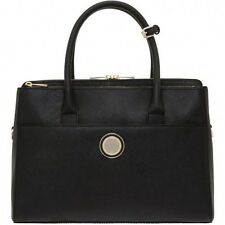 NEW OROTON Metropolis Tote Briefcase Work Bag Handbag Leather Black RRP$595