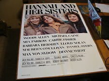 vintage movie poster: HANNAH AND HER SISTERS, 1986 WOODY ALLAN