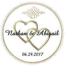 120 GOLD HEARTS WEDDING BRIDAL SHOWER TAGS LABELS STICKERS FOR YOUR FAVORS