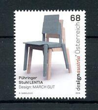 Autriche 2016 neuf sans charnière design Puhringer chaise Lentia 1v set chaises timbres