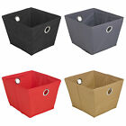Foldable Collapsible Canvas Fabric Storage Shelf Drawer Organiser Bedroom Box