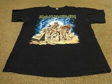 VTG ANVIL IRON MAIDEN T-SHIRT L MEN 2008 WORLD TOUR ROCK SOMEWHERE BACK IN TIME