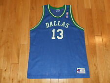 VINTAGE 1990s CHAMPION STEVE NASH DALLAS MAVERICKS NBA TEAM REPLICA JERSEY Sz 52