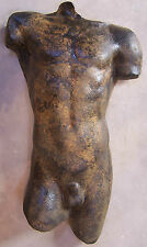 Life Size Greek style Australian Sculpture Male Torso. Wall hanging 90 cm. Resin