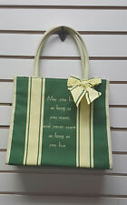 Sentimental Inspirational Tote Bag/Bible Carrier Scripture May You Love as Long
