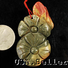 Unusual! Natural Picasso Jasper Carved Flower Pendant Bead
