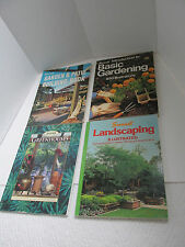Lot of 4 Vintage Sunset GARDEN & PATIO BUILDING LANDSCAPING GREENHOUSES BOOKS