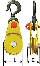 Poulie ouvrante renforcée à câble CMU* 2 brins 12,500kg Øréa 150mm