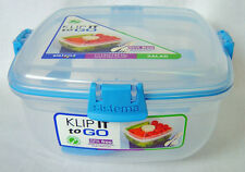 Sistema Klip It Colour Accents salade d'aller 1,1 L conteneur avec clips bleu clair
