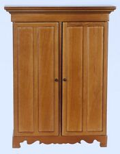 Detailed Lincoln Wardrobe / Walnut, Dolls House Miniature 1.12 Scale