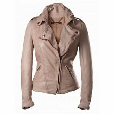 Muubaa Athena Leather Biker in Lobster. RRP £419. UK 10. M0167. See details.