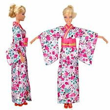 Fashion Doll Clothes Traditional Japanese Kimono Dress Outfit For Barbie Doll