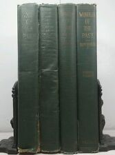 1924~Wonders Of The Past~Antique Dark Green 4 Vol Book Set~Distressed Decor Lot